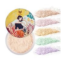 fırında yüz toptan satış-Huamianli marka yüz ayarı gevşek toz makyaj fırında toz mat parlak saydam ipek yağ kontrolü kozmetik seti aydınlatmak