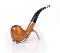 Wholesale making green products resale online - New products solid wood Green Sandalwood pipe hand made men s filter portable smoking set smoking accessories