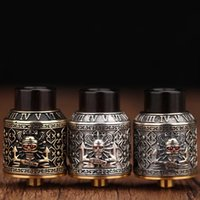 Wholesale engraved design - Authentic RISCLE Pirate King RDA 24mm Diameter 3D Engraved Edition with Padouk Drip Tips Adjusttable Dual Airway Outlet Design for Vape Mods