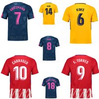 Wholesale Homes Cost - thai quality Atletico Home away Soccer jersey Diego cost F.TORRES 2017 2018 Away Yellow GRIEZMANN KOKE GABI SAUL CARRASCO Jerseys shirt