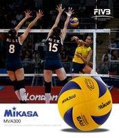 Wholesale volleyball size ball online - Hot selling MIKASA MVA300 volleyball Professional Indoor volleyball ball Olympic Games official Match training volleyball size