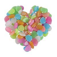 parlayan taş koyu toptan satış-100 ADET Karanlık Taşlar Glow Yeşil Dekor Bahçe Açık Pebble Aydınlık Kayalar Mavi Pretty Şık Cazip Yaratıcı