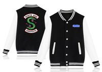 Zweiköpfige Schlange Print Männer Frauen Kleidung Teenager Baseball Mantel Riverdale Mode Lässig College Jacke Hoodie Liebhaber Getäfelten Sweatshirt