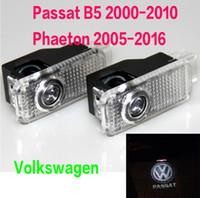 r volkswagen logo venda por atacado-2X LED Luz de Advertência Da Porta Com VW R R-LINE Logo Projetor PARA Volkswagen VW Passat B5 B5.5 Phaeton Logotipo Luzes Sombra de Fantasma