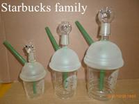 mini tasses de starbucks achat en gros de-meilleur Starbuck Cup starbucks Glass bong! Dabuccino Inspiré de Starbucks Themed Concentrate Cup Rig