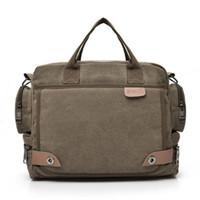 leather briefcases men laptop briefcase Men s Canvas Messenger Shoulder Bag  Crossbody Sling briefcase Bags Satchel O0605 30 0edae1be6b063