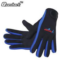 Wholesale Neoprene Swimming - 1.5mm Adult Neoprene Swimming Gloves Diving Gloves Keep Warm Non-slip Surfing Snorkeling Kayaking Gloves Winter Diving Equipment