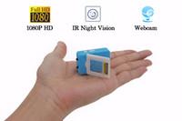 câmeras dvr secretas venda por atacado-1080 P HD Mini Câmera Mini de Visão Noturna Infravermelha IR DV DVR Segredo Micro Secret Babá Cam Espia Camcorder Webcam Detecção de Movimento