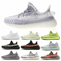 Wholesale frozen low shoes online - Top V2 Running Shoes Mens Blue Tint Zebra designer Seankers Originals Womens Static cream white Semi Frozen yellow trainers With Box