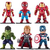 demir adam filmi figürleri toptan satış-Avengers Aksiyon Figürü Demir Adam Örümcek Adam Kaptan Amerika Film Oyunu Modeli Şekil Oyuncak Hediye Koleksiyonu OOA4897