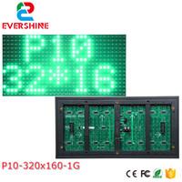panel de pixel led al por mayor-10 mm píxel exterior solo color rojo 320x160 32x16 p10 led signo módulo p10 solo color panel verde