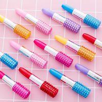 bolígrafos lindos para los niños al por mayor-2 unids exquisito lápiz labial bolígrafo kawaii papelería bolígrafos lindos niños regalos praize plumas escolares niños juguete creativo