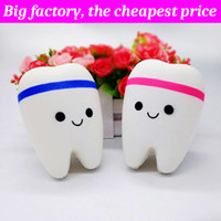 Wholesale teeth phone for sale – best Squishy tooth huge squishies Slow Rising Soft Squeeze Cute Cell Phone Strap gift Stress children toys Decompression Toy