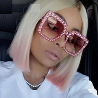 Wholesale pink rhinestone sunglasses - Retro Vintage Cat Eye Sunglasse Luxury Rhinestone Sun Glasses For Women 2017 Brand Designer Ladies Oversized Cateye Sunglasses