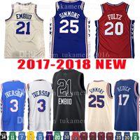 Wholesale Mens Shorts Quick Dry - 2018 New Mens Youth 21 Joel Embiid 25 Ben Simmons Jersey Kid's 20 Markelle Fultz 3 Allen 17 J.J. Redick Iverson 2017-18 Basketball Jerseys
