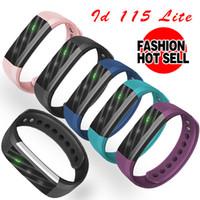 Wholesale Cheapest Clocks - ID115Lite Smart Bracelet Fitness Tracker Step Counter Sleep Monitor Band Alarm Clock Vibration Wristband pk id115 cheapest women