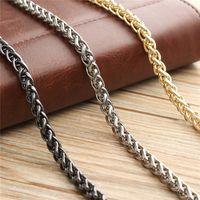 cinturón negro cadenas de oro al por mayor-100 cm Cadena Bolsa Correas de metal Piezas de bolsa de correa de bricolaje Reemplazo de Crossbody de acero inoxidable Correas largas Bandas Oro Plata negro