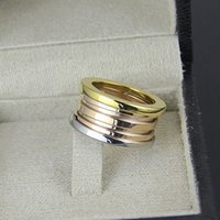 Wholesale Couples Black Wedding Bands - New version mix three-colour ring Luxury bulgaria Ceramic spring rings jewelry for women men couple wedding ring