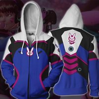 Wholesale anime clothes hoodie online - on watch Anime Game Cartoon Periphery cosplay clothing DVA D stampa pattern Hoodie Hoody New exotic Leisure fashion woman coat