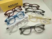 Wholesale M Glasses - NEW Moscot Lemtosh blue wine-red frame L M S sizes glasses for prescription glasses retro-vintage Jonny Depp style freeshipping