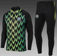 Wholesale black children tracksuits - 2018 world cup Nigeria soccer jersey tracksuit Jacket Okechukwu Dayo 18 19 Nigeria child football Training suit