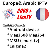 Wholesale arabic boxes - Iprotv French Arabic Belgium IPTV Subscription for Android Smart TV Box as XIAOMI H96 X96 X92 MAG254 MAG250 Samsung SmartTV