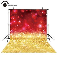 spray de brilho venda por atacado-papel de parede de fundo por atacado brilho vermelho ouro bokeh sparkle shimmer brilho festa luxo celebração pano de fundo fotografia