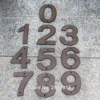 ingrosso antiquariato ghisa-Casa Lettere e Numeri grandi dimensioni Cast Iron Heavy Duty Metallo Home Numeri civici Segnaletica Antique Brown Finish