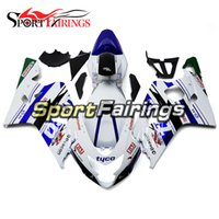 ingrosso kit abs per moto-Carenature ad iniezione blue di TYCO per Suzuki GSXR600 GSXR750 K4 04 05 2004 2005 Kit carenature per moto in plastica ABS Carrozzeria