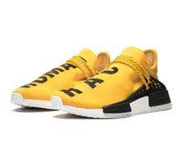 badminton ayakkabı markası toptan satış-NMD İnsan Yarışı Hu Trail Pharrell Willams BBC Erkek Tasarımcı Koşu Ayakkabıları Erkekler Rahat Eğitmenler Kadınlar için Kapalı Marka Spor Sneakers