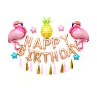 Wholesale gifts balloons for christmas resale online - Creative Flamingo Pineapple Aluminum Balloons Home Decor Balloon Xmas Wedding Centerpeices Party Decoration Gifts For Child Adult pq Y