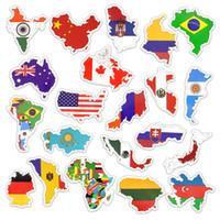 bayrak çıkartmaları toptan satış-50 ADET Su Geçirmez Ulusal Bayraklar Desenler Etiketler Oyuncaklar Çocuklar için DIY Ev Bagaj Karalama Defteri Dizüstü Kupa Kaykay Araba Bisiklet Çıkartmaları