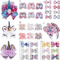 Wholesale baby girls accessories online - JOJO SIWA hair bows Girl barrettes Rainbow Mermaid Unicorn Design Girl Clippers headband Girls Hair Clips Baby Hair Accessory Multi Choices