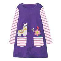 9914830eb Christmas Kids Animal Unicorn Dress Appliques Clothing Girls Cute Long Sleeve  Dress 100% Cotton Designer Dress for Kids Clothing
