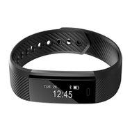 rosa xiaomi al por mayor-Relojes de fitness monitor de frecuencia cardíaca Smart Band ID115HR pulsera pulsera de rosa azul negro Activity Tracker para xiaomi iphone