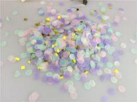 papel mágico al por mayor-1 kg / lote 1 cm / 2 cm / 2.5 cm Mágico Unicornio Papel de oro Confeti Boda Sprinke Empuje Pop Girl's Baby Shower Unicornio Fiesta de cumpleaños Decoración