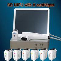Wholesale face pulls - 2018 New Version 8 Optional Cartridges 3D Hifu Body Slimming Breast Pulling Face Lift Machine 3D hifu skin tightening