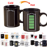 Wholesale ceramic cup magic - 301-400ml Constellation Coffee Mug Star Sign Magic Mug Cup Change Color Tea Coffee Water Cup Cool Heat Changing Color Ceramic Cups WX9-528