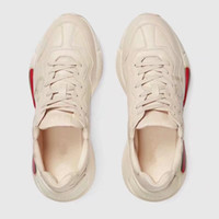 Wholesale Italian Leather Sneakers Men - 2018 Hot Sale Man Woman Italian Luxury Brand Fashion Trainers Couples Running Sneakers Unisex Genuine Leather Retro Rhyton Shoes