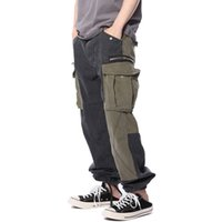 soldados de época al por mayor-18SS Soldado de lujo Pantalones Pantalones de chándal Moda Vintage Street Casual Pantalones sueltos Pantalones Hombres Mujeres Uniforme militar Army HFYMKZ067