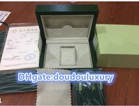 Wholesale Sales of watches box green box High quality indicator green wooden table box