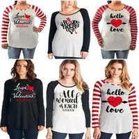 Wholesale maternity clothes l for sale - womens valentines clothing letter printed raglan tops O Neck Loose Pullover long sleeve Maternity Tops Tees