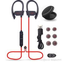 Wholesale new bluetooth earbuds resale online - New items S Wireless Bluetooth headphones Waterproof IPX5 Headphone Sport Running Headset Stereo Bass Earbuds Handsfree headphones