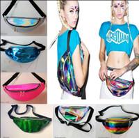 sparkle bags achat en gros de-Ceinture de taille 21 couleurs Laser Sac de taille unisexe argent métallisé Fanny Coffre Pack Sparkle Fest