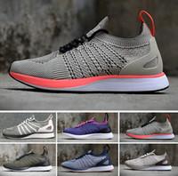 ingrosso calzature estive a maglia-Nike Flyknit Trainer Bright Citron  2018 Flying Racers Knit Oreo Nero Bianco Grigio casual jogging scarpe da jogging uomo estate scarpe da donna taglia 36-45