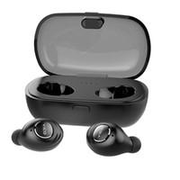 unsichtbare ohrhörer großhandel-TWS Bluetooth Ohrhörer, Mini Invisible V4.2 Wireless Dual Bluetooth Ohrhörer Headset Twins Kopfhörer mit 330mAh Lade Fall für iPhone iPad