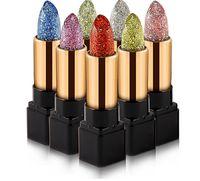 Wholesale color change lipstick - 2018 Hot Selling Hiqh Quality Magic Lip Stick Waterproof Long Lasting Moisturizer Shiny Glitter Lipstick Cosmetic Temperature Change Color