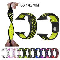 montre de sport de bracelet de silicone achat en gros de-31 Couleurs Instock Sport Bracelet En Silicone Pour Apple Watch Band Bracelet Bracelet Bracelet En Caoutchouc Caoutchouc iwatch 3/2/1 Montre-Bracelet VS Fitbit