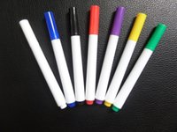 Wholesale 24 36 painting - 1*10cm Plastic 1 Head Painted Markers 6 Colors Drawing Painting Art Pens for Writing Bag Cloth Designs