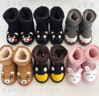 Wholesale kids cartoons snow boots for sale - Group buy 2019 kids boots Genuine leather childrens snow boots animal world cartoon boys girls snow boots thermal UG kids shoes